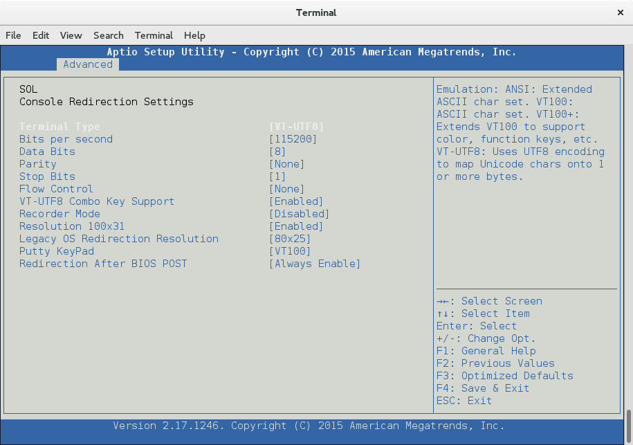 SuperMicro BIOS settings accessed via ipmi-console
